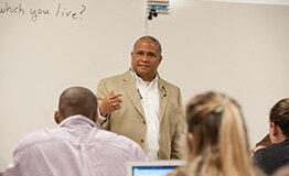 Professor Teaching in front of class
