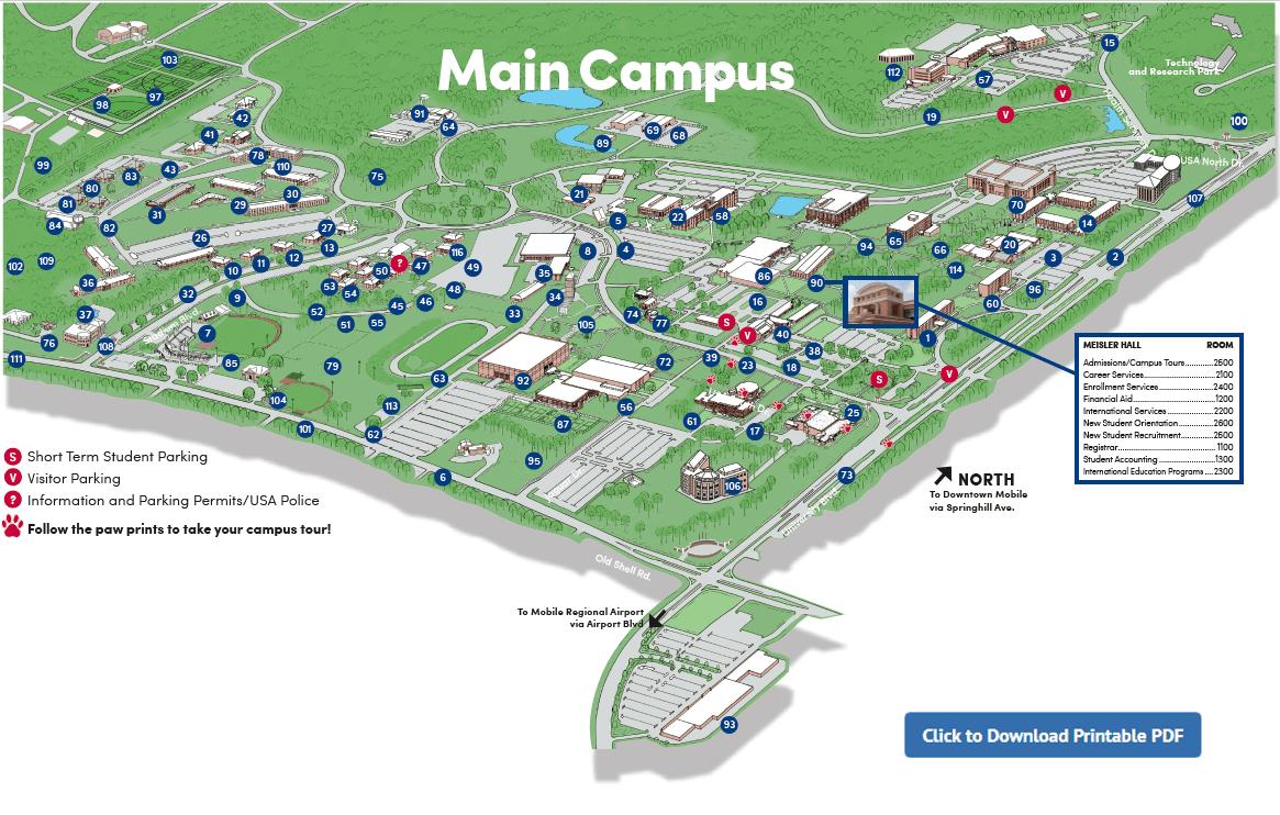 u of alabama campus map Maps